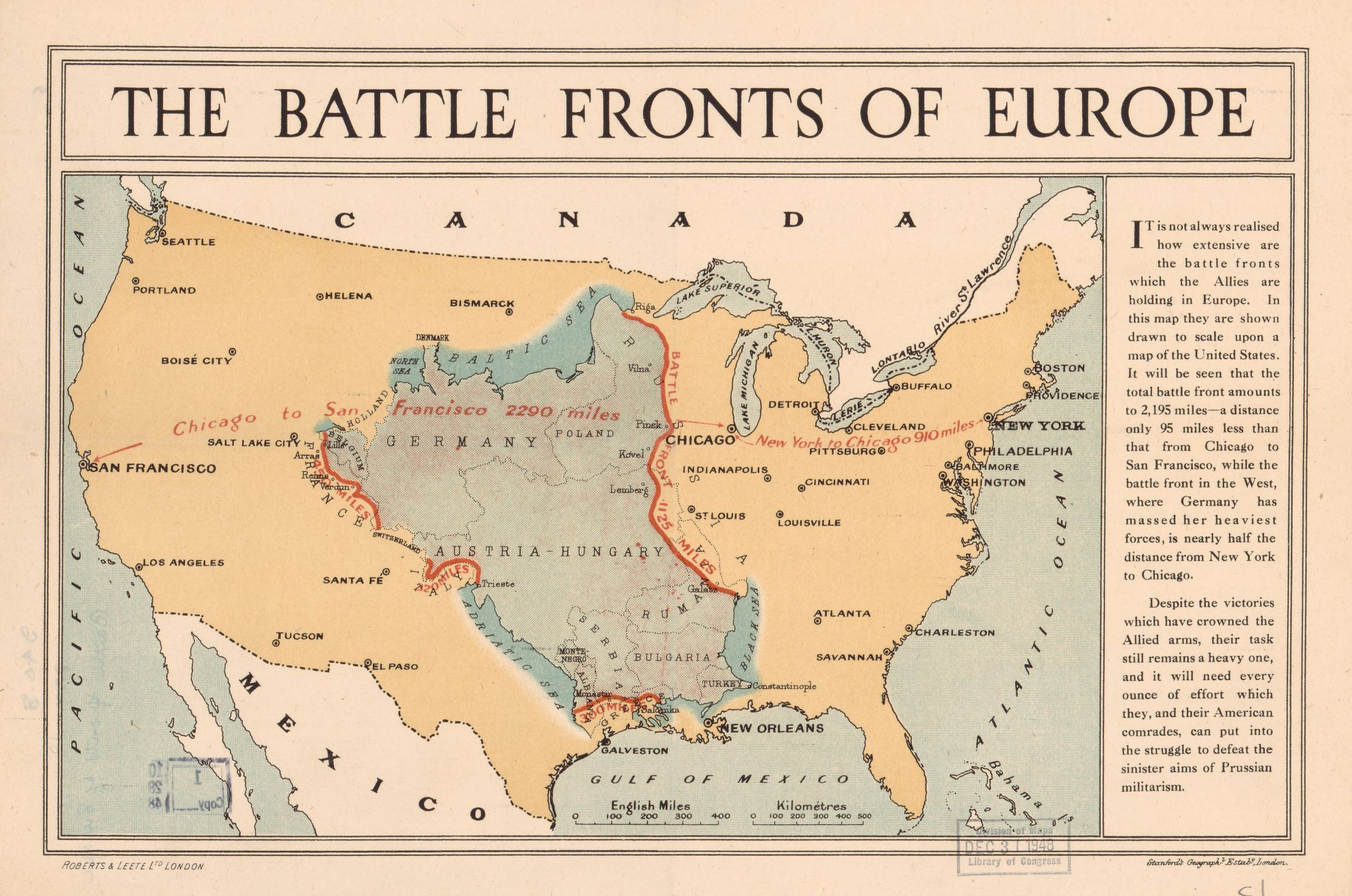 World War I Battle Fronts Of Europe Overlaid Over A Map Of