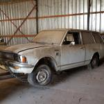 Pulling My 1971 Toyota Corolla Te28 2 Door Wagon Out Of The Barn Where It Sat For About 30 Years Projectcar