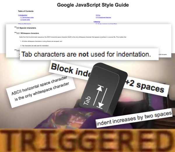 Googles JS Style Guide triggered me more then it should've ...