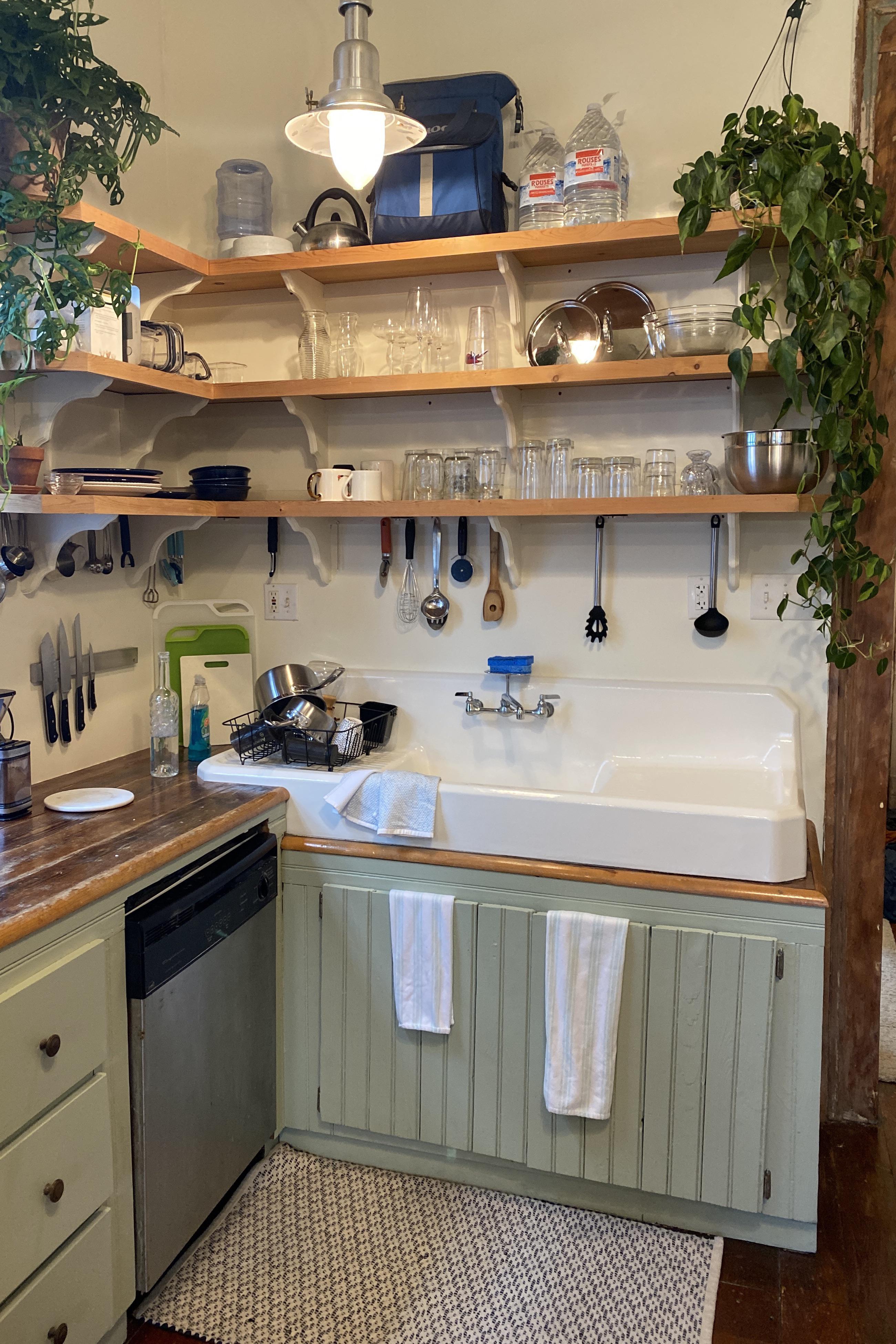vintage farmhouse cast iron sink is