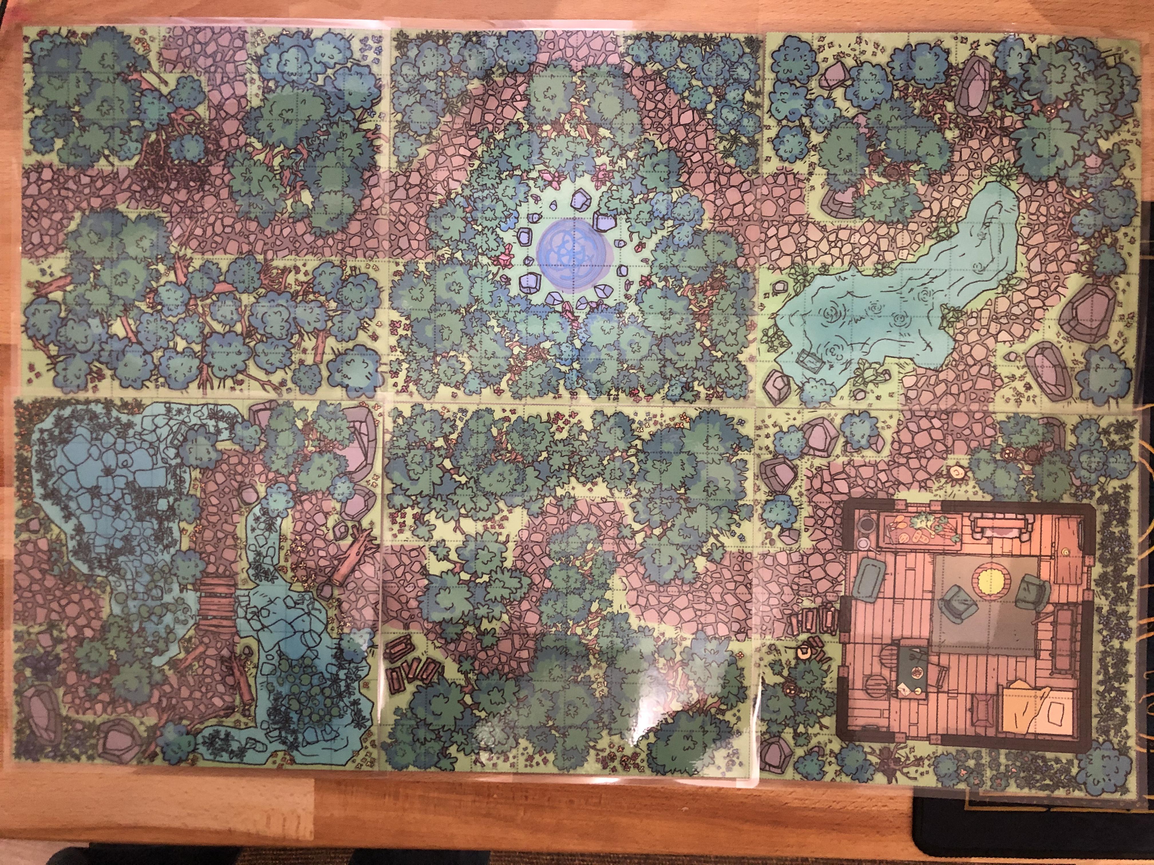 creating 8x8 tiles to print and