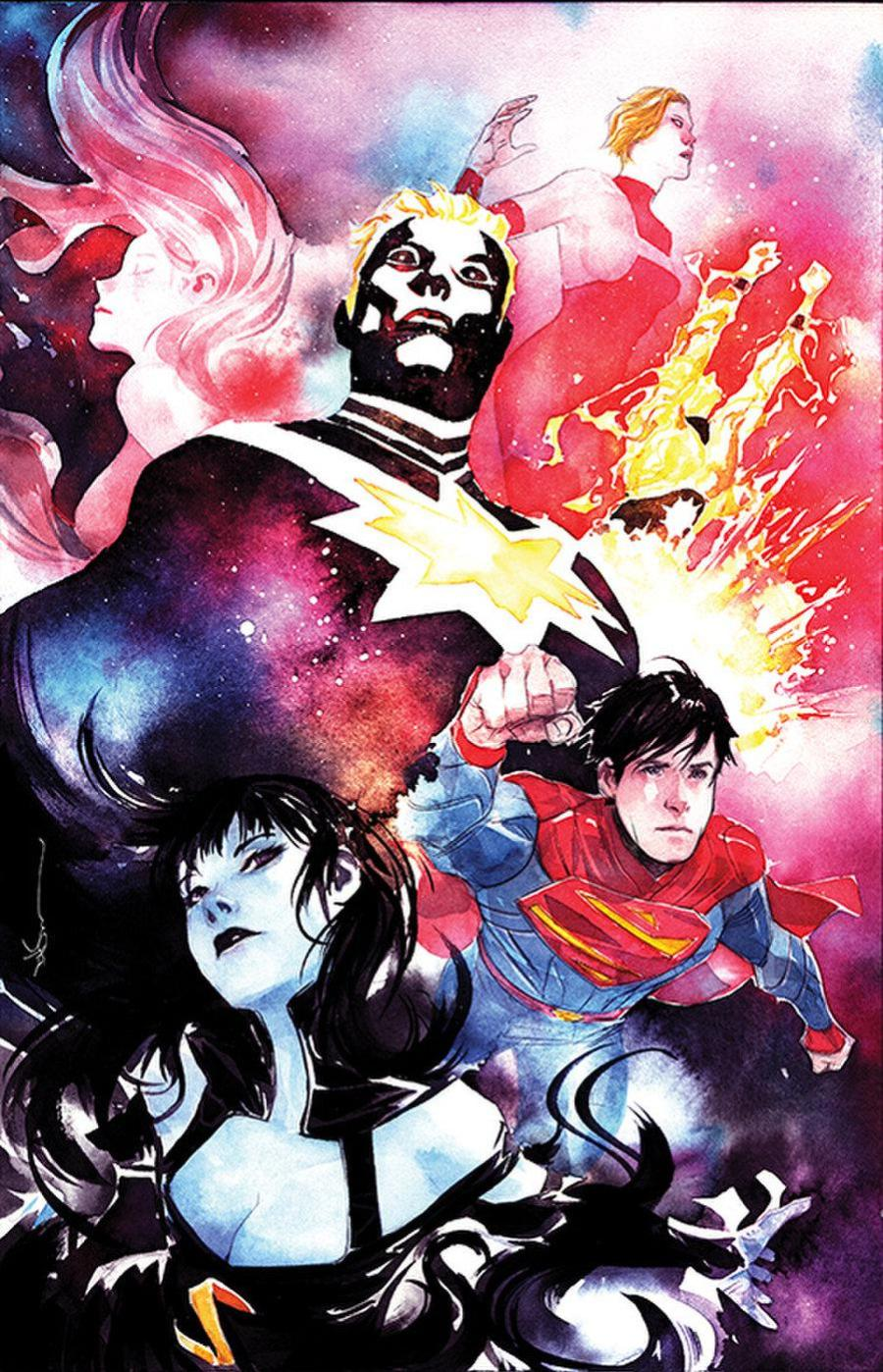 Cover] Legion of Super-Heroes #8 variant (by Dustin Nguyen) : DCcomics