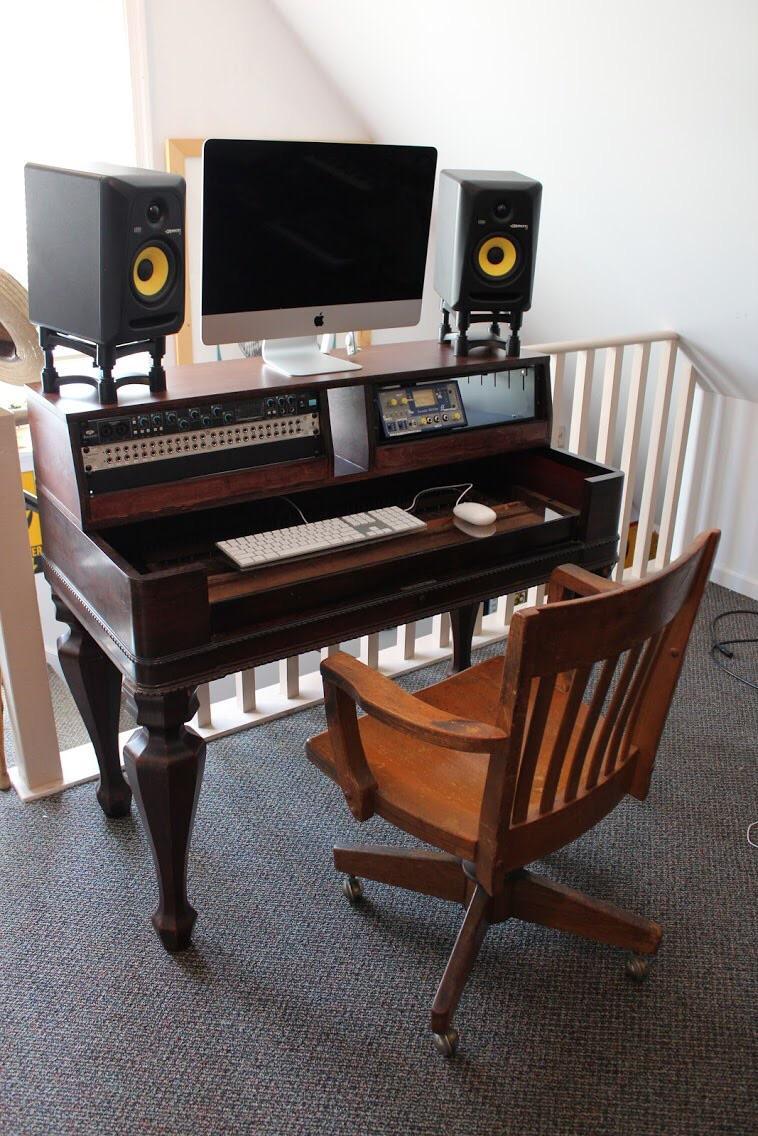 Diy Studio Desk Build Musicbattlestations