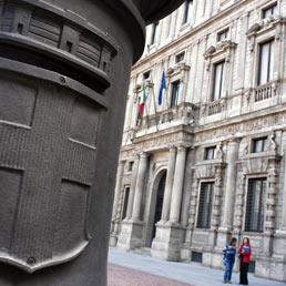 Palazzo Marino sede del Comune di Milano. (Emblema)