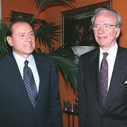 Silvio Berlusconi e Rupert Murdoch