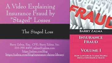 """A video explaining insurance fraud of """"staged"""" losses"""