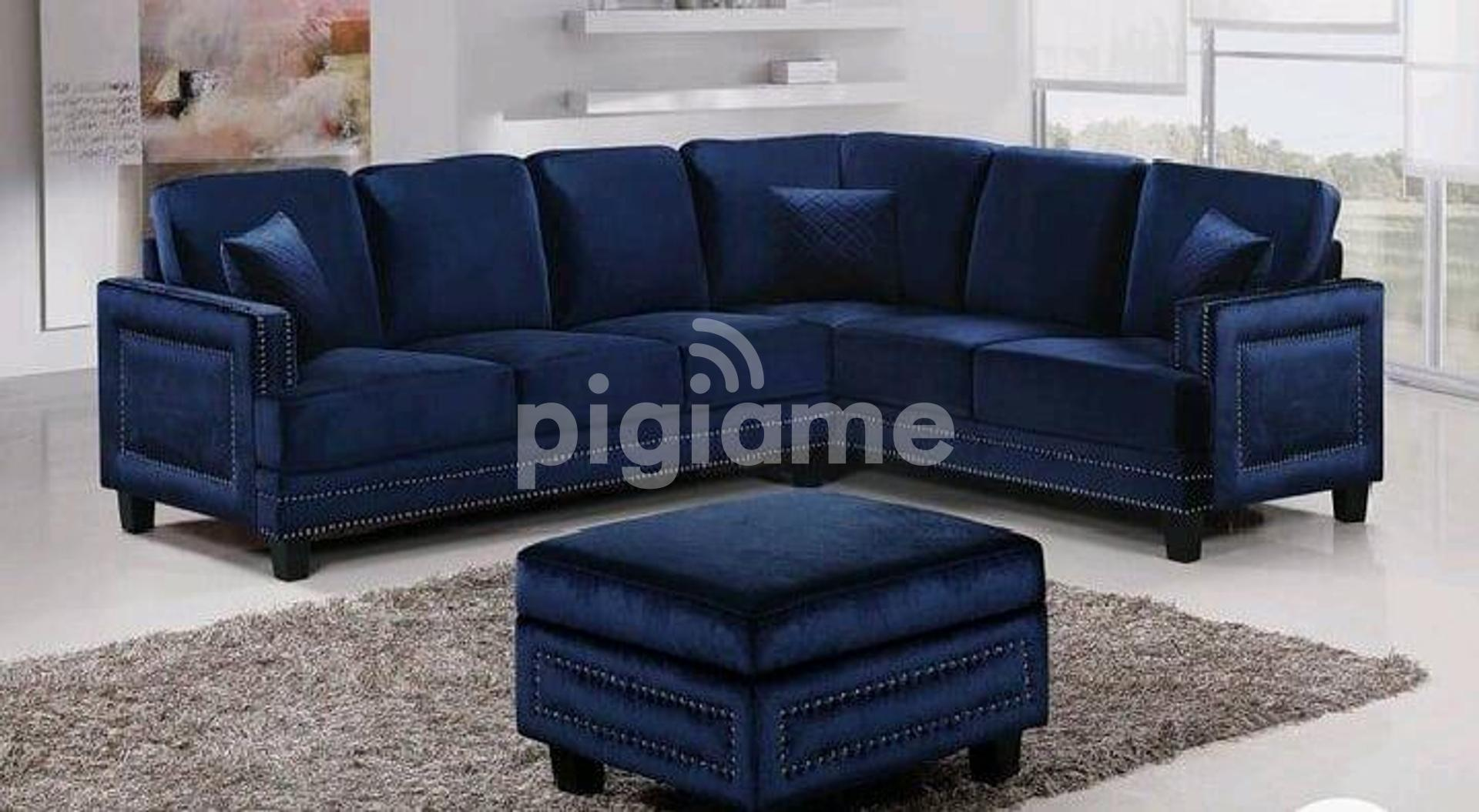 six seater l seat l shaped sofa with puff blue sofas modern sofas modern l shaped sofa