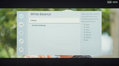 Configuración de calibración de Samsung RU7100 24