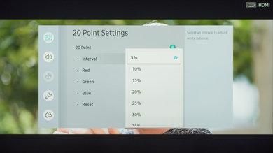 Configuración de calibración de Samsung RU7100 27