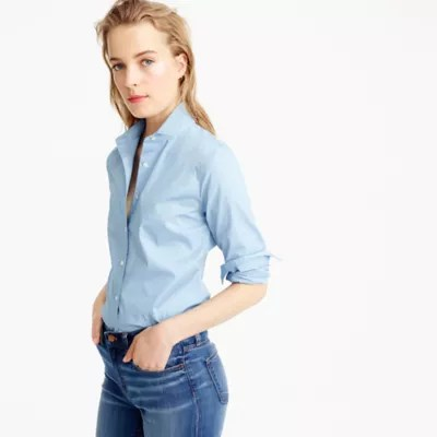 Tall Stretch Perfect Shirt Womens Shirts JCrew