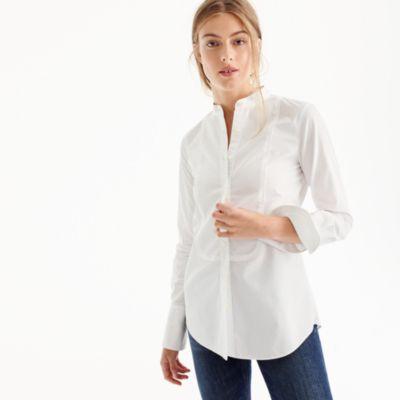 Thomas Mason For JCrew Mandarin Collar Tuxedo Shirt