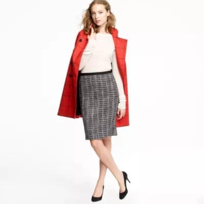 No 2 Pencil Skirt In Midnight Tweed JCrew