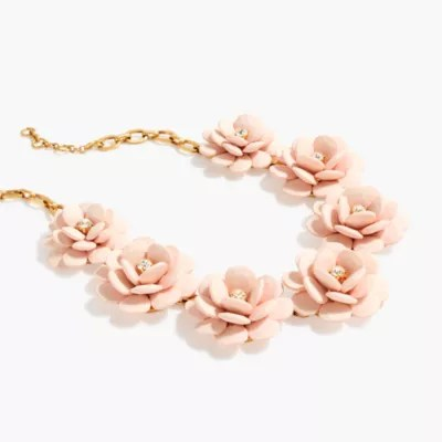Beaded Rose Necklace Jewelry JCrew