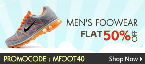 Men's Footwears Flat 50% Off.