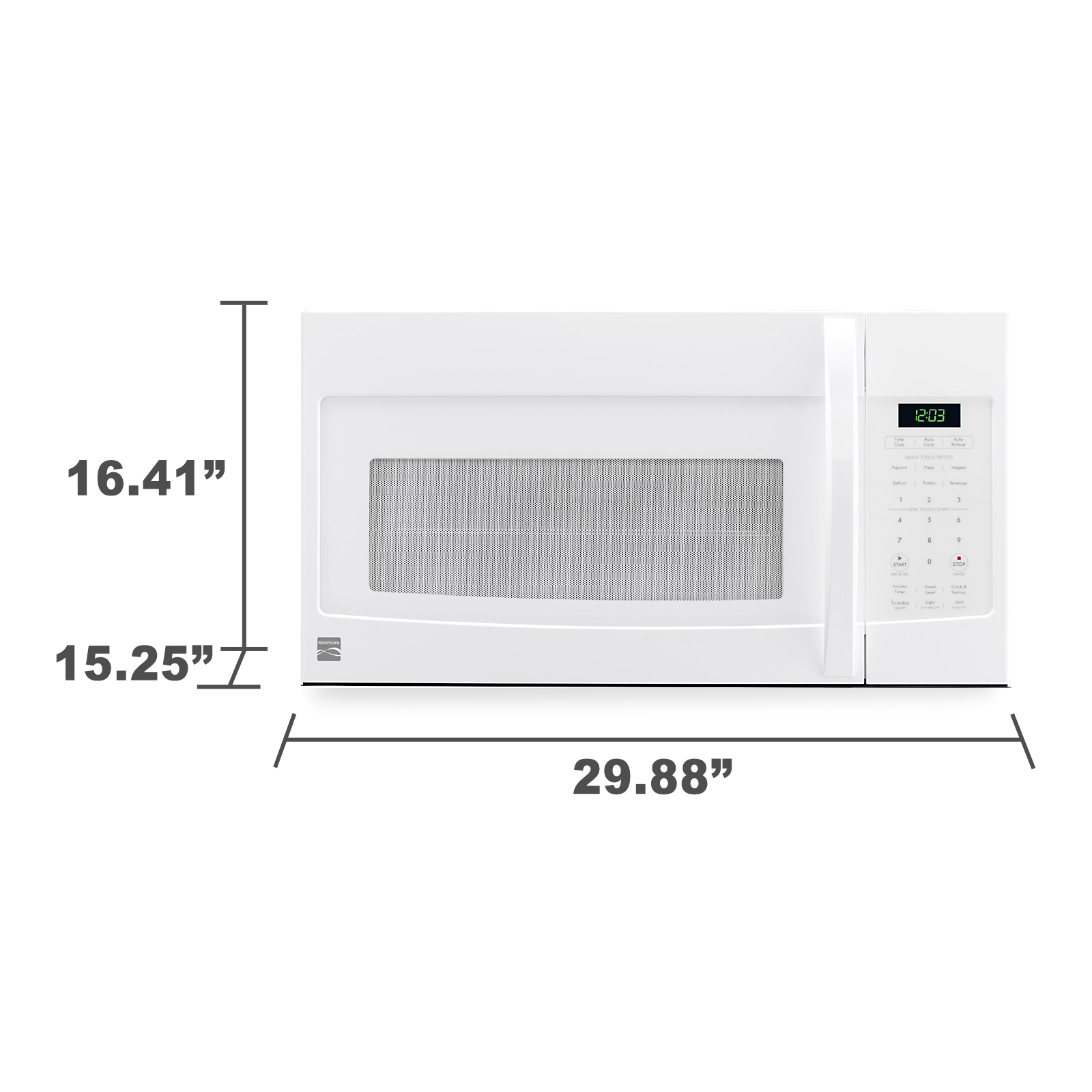 kenmore 80322 1 6 cu ft over the