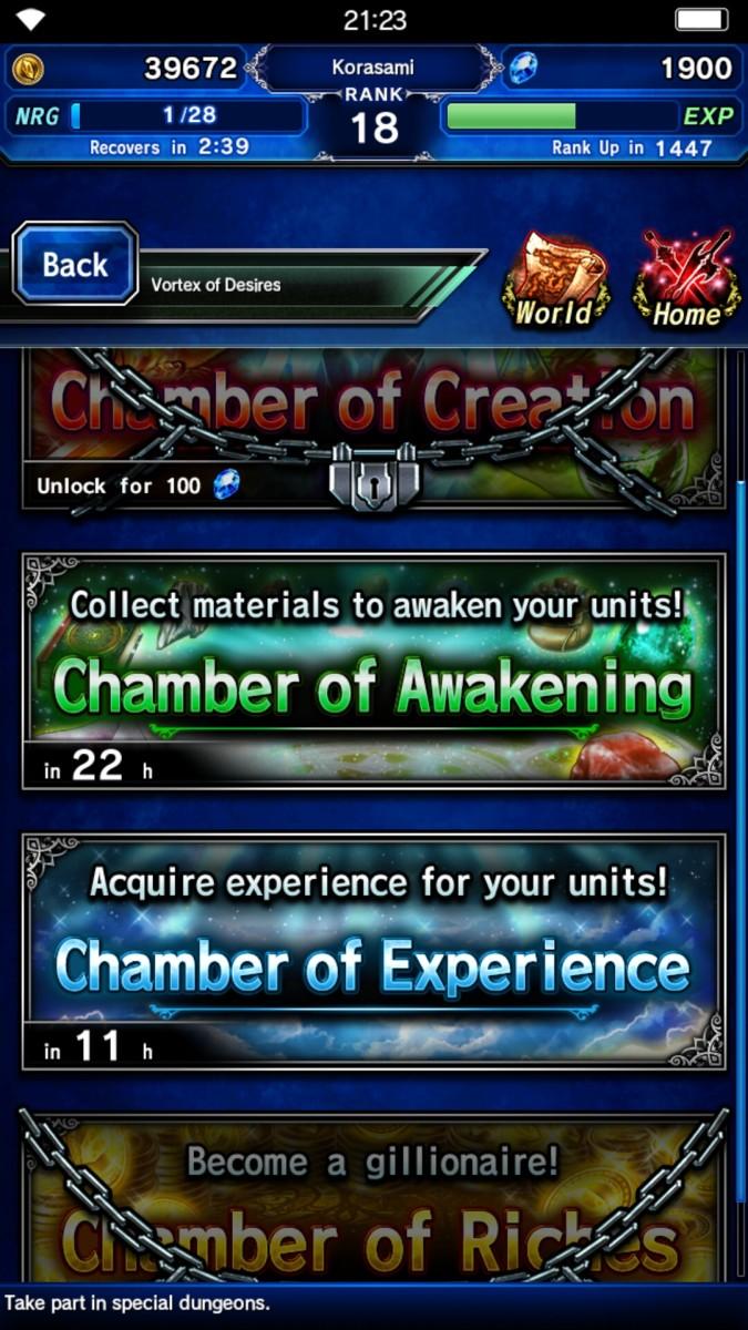 Final Fantasy Brave Exvius Chambers Vortex