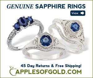 ApplesofGold.com - Sapphire Rings