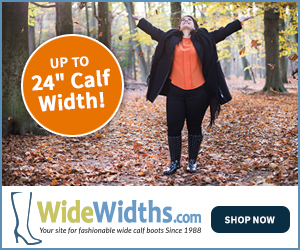 WideWidths.com - your site for fashionable wide calf boots since 1988.