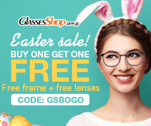 Easter Sale! Buy one Get one FREE! Use code GSBOGO @GlassesShop.com