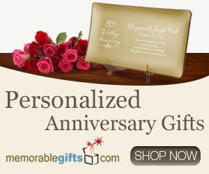 Personalized Anniversary Gifts - MemorableGifts.com