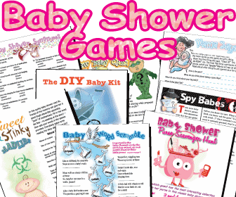 Printable Funny Baby Shower Games Pack