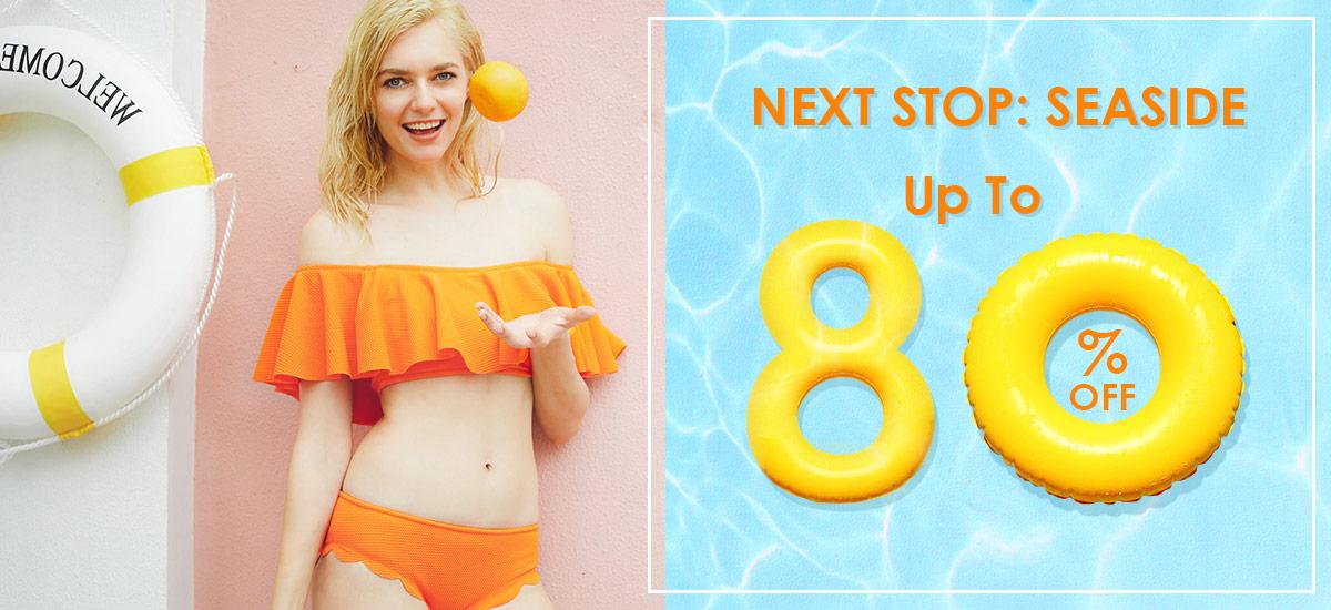 Enjoy Up to 80% OFF Seaside Sale at Zaful.com! Ends: June.30, 2017