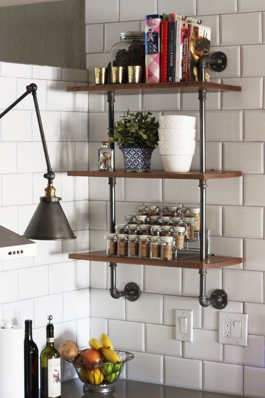 Pipe Shelving Unit Could Become Your Next Kitchen Diy Project
