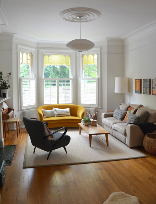 Home Library With Bay Window Seat