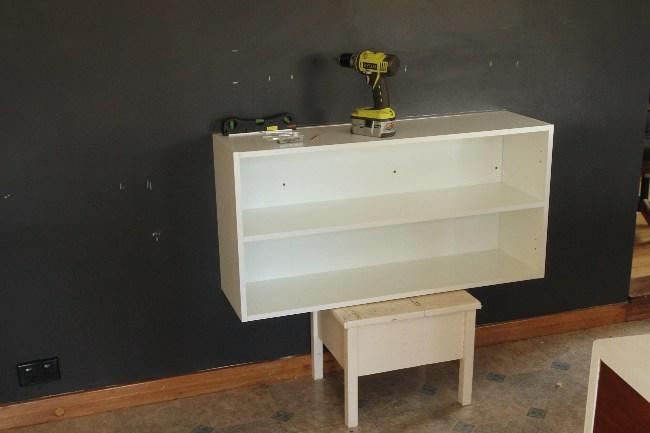 DIY Floating Buffet Using IKEA METOD Cabinet Shelterness