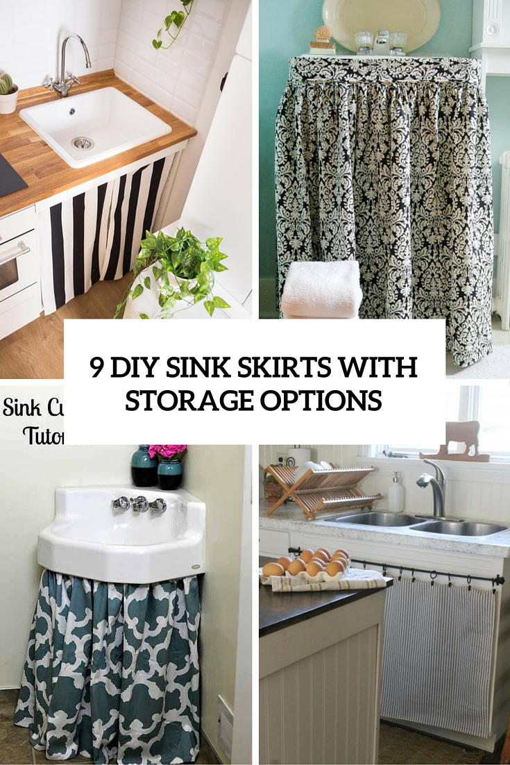 cute hidden storage idea 9 diy sink