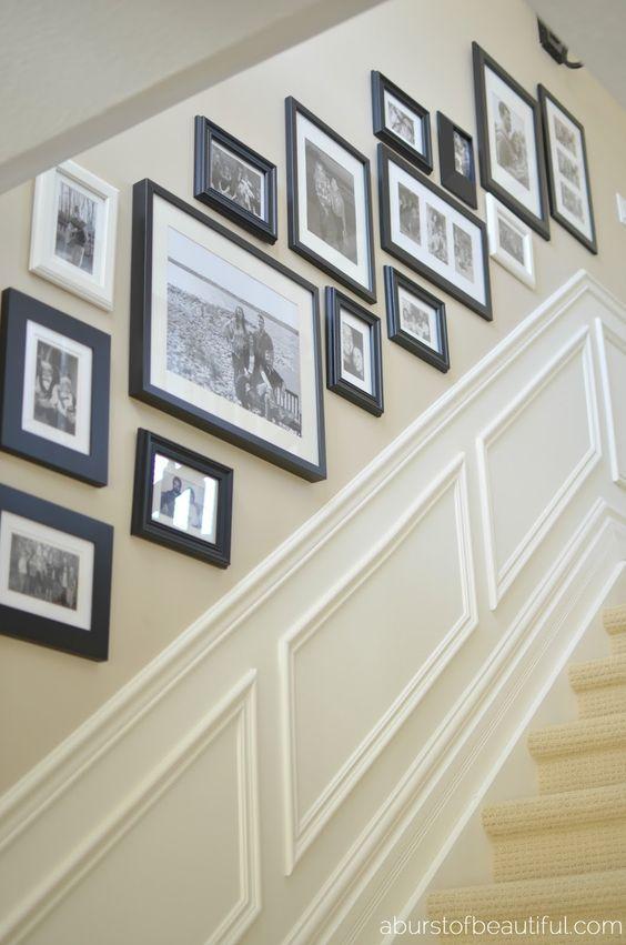 Stair Gallery Wall Template Cartoonjdi Co