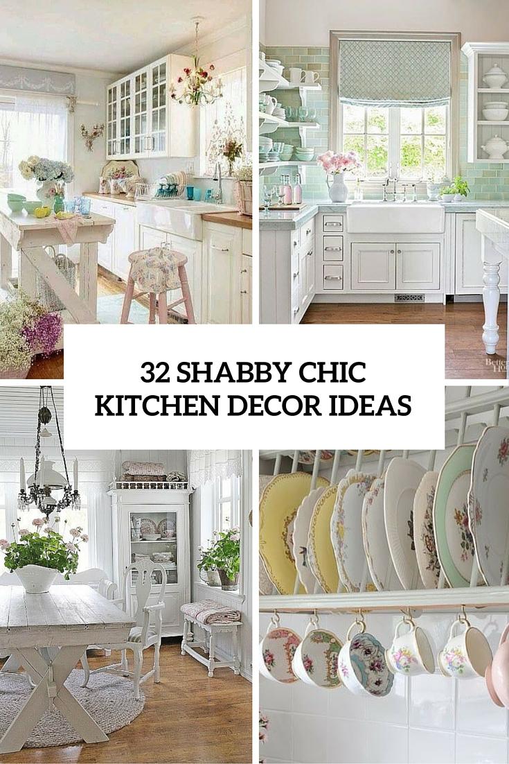 32 shabby chic kitchen decor ideas cover