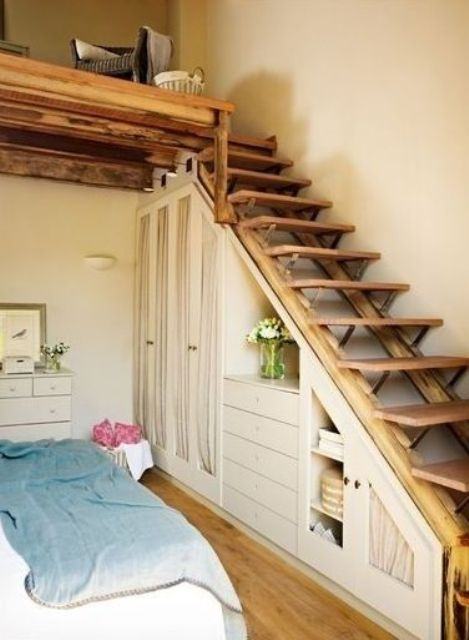 26 Creative And Space Efficient Attic Ladders Shelterness   Creative Stairs For Small Spaces   Low Cost Simple   Beautiful   Tiny House   Modern   Unique