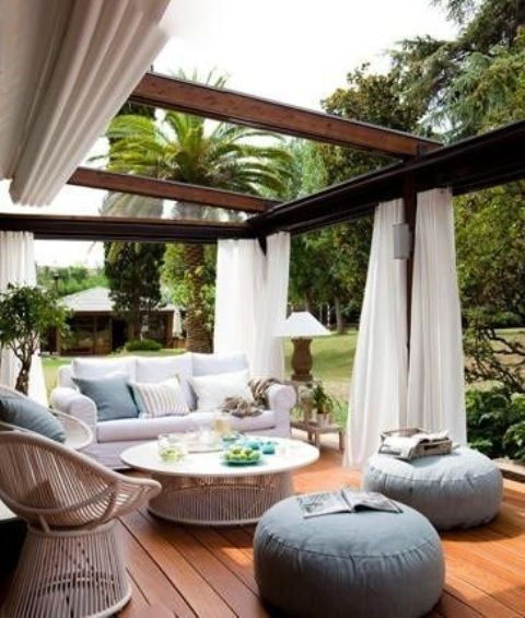 covered outdoor patio living space 23 Modern Gazebo And Pergola Design Ideas You'll Love