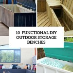 10 Smart Diy Outdoor Storage Benches Shelterness