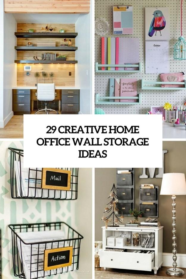 home office shelves ideas. creative home office wall storage ideas
