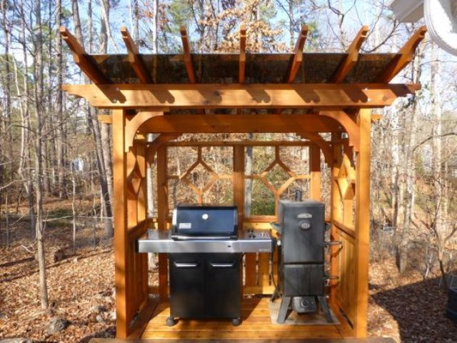 21 Grill Gazebo, Shelter And Pergola Designs - Shelterness on Patio Grilling Area  id=69541