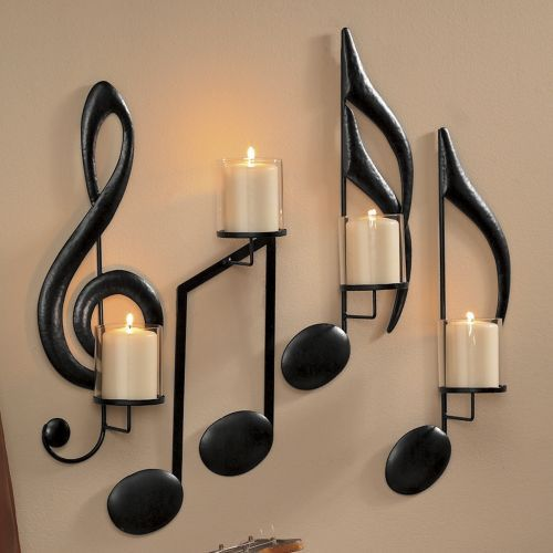 25 Creative Home Décor Ideas For Music Lovers - Shelterness on Wall Mounted Candle Holder id=27393
