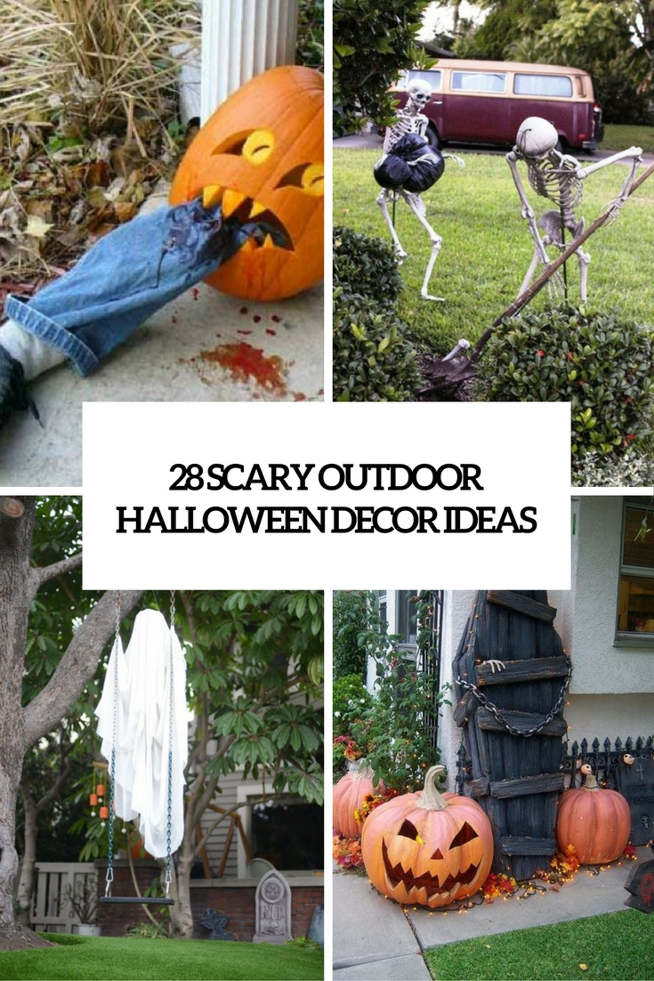 28 Scary Outdoor Halloween Décor Ideas - Shelterness on Lawn Decorating Ideas id=76469