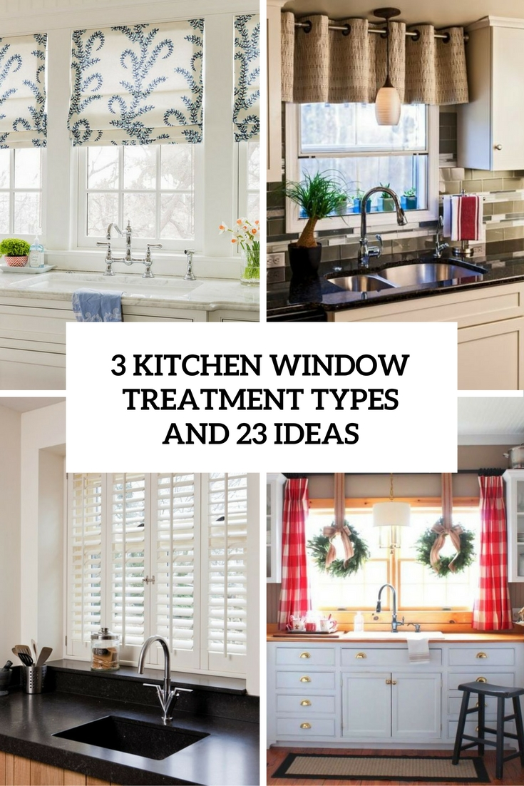 3 kitchen window treatment types and 23