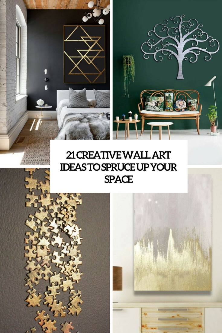 21 Creative Wall Art Ideas To Spruce Up Your Space ... on Creative Wall Art Ideas  id=71983