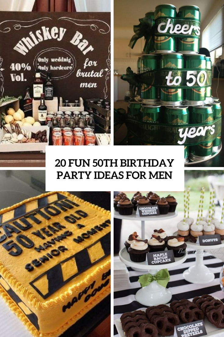 20 Fun 50th Birthday Party Ideas For Men Shelterness