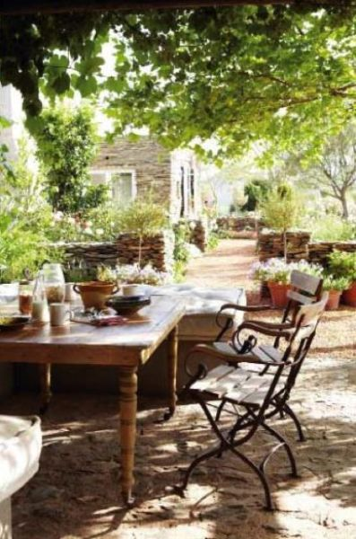 french country outdoor patio furniture 20 Chic French Country Terrace Décor Ideas - Shelterness