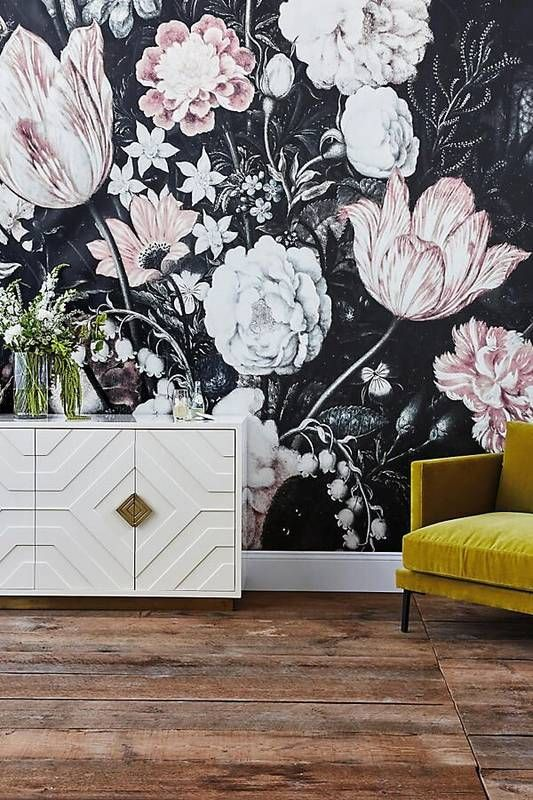 20 Super Trendy Moody Floral Wallpaper Ideas Shelterness