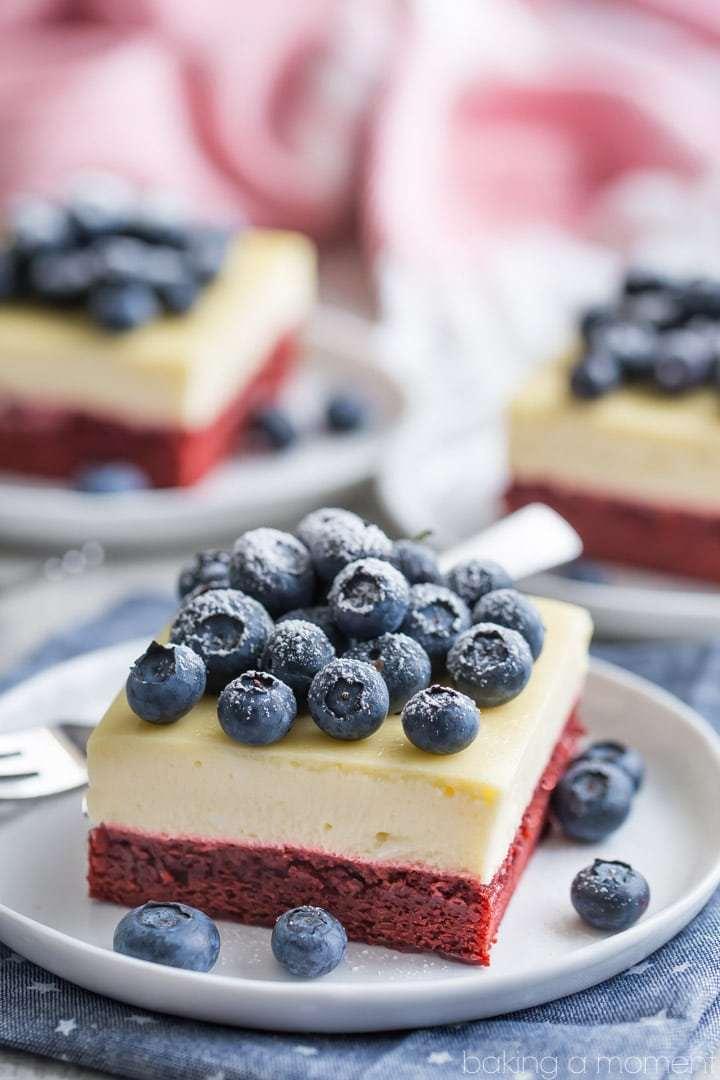 DIY red velvet cheesecake bars (via https:)