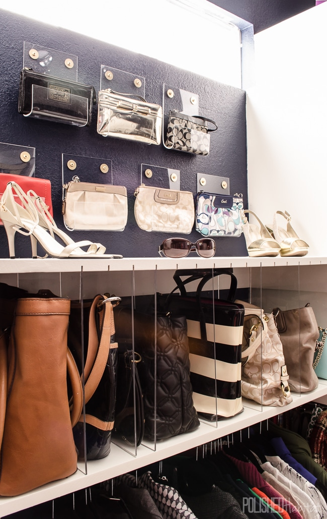 DIY acrylic purse organizers (via www.polishedhabitat.com)