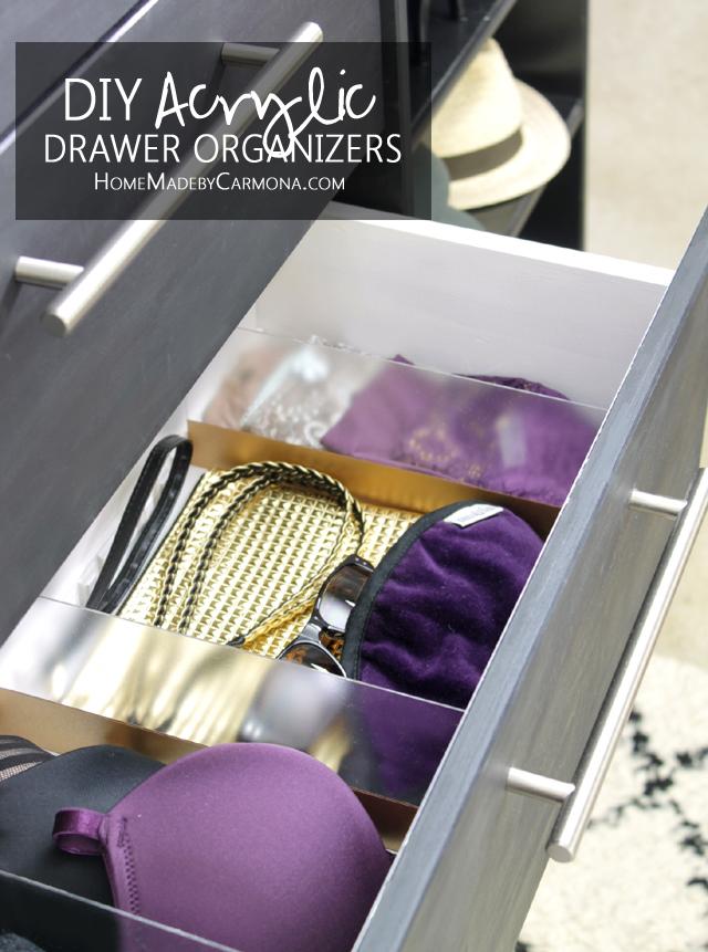 DIY custom acrylic drawer organizer (via www.homemadebycarmona.com)