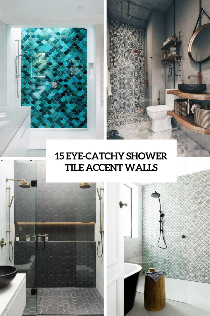 15 eye catchy shower tile accent walls