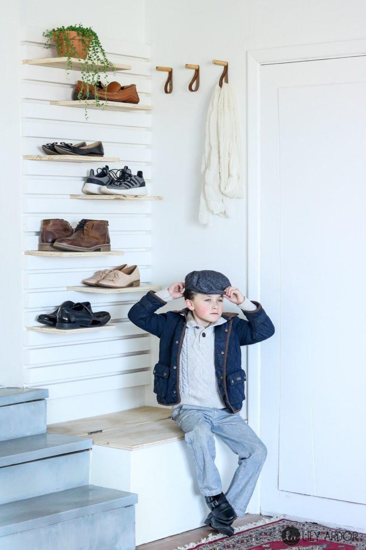 8 Stylish And Elegant Diy Shoe Racks And Shelves Shelterness