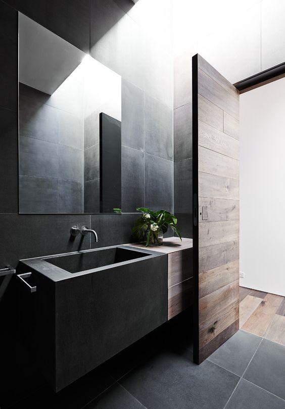 15 tasteful and refined black bathrooms